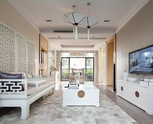 【现代中式客厅装修效果图大全欣赏】   设计本; 现代中式风格客厅